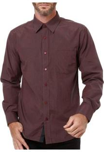 Camisa Manga Longa Masculina Bivik Vinho