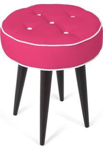 Puff Decorativo Para Sala, Quarto Retro Atz 138 Rosa Vintage