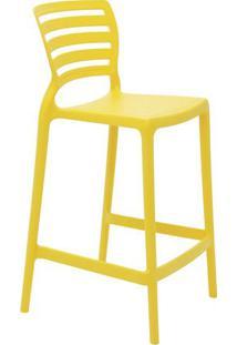 Cadeira Alta Sofia- Amarela- 93,5X48X47Cm- Tramotramontina