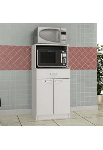 Armário De Cozinha Microondas/Forno Mf211 Branco - Evidência Móveis