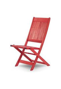 Cadeira Retangular Dobravel Acqualung+ S/Braco Vermelho 99Cm - 61635 Vermelho