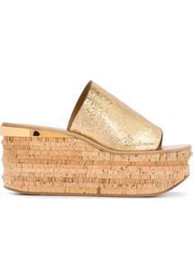 Chloé Sandália Com Abertura Frontal - Dourado
