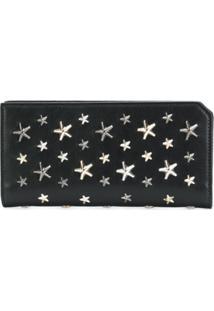 Jimmy Choo Carteira Com Aplicação De Estrelas - Preto