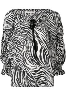 Mcq Alexander Mcqueen Blusa Com Estampa Zebra - Preto