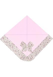 Manta Enxoval Piquet Padroeira Baby Elegance Rosa