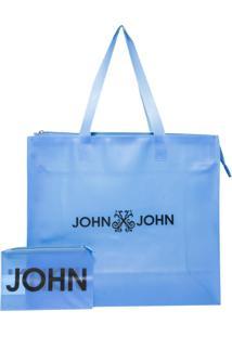 Bolsa Tote John John Plastic Blue (Azul Claro, Un)