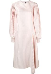 Calvin Klein 205W39Nyc Striped Midi Dress - Branco