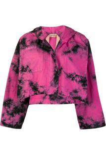Nº21 Jaqueta Cropped Tie Dye - Rosa