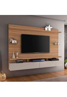 Painel Para Tv Até 60 Polegadas Aquarela Naturale E Off White