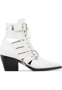 Chloé Ankle Boot Rylee - Branco