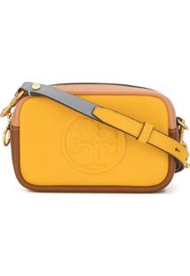 Tory Burch Bolsa Perry Bombé Color Block - Amarelo