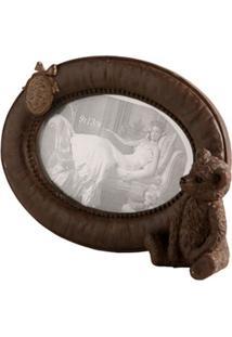 Porta-Retrato Decorativo De Resina Bear