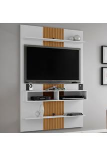 Painel Para Tv Até 47 Polegadas 2075549 Vega Branco/Ripado - Bechara Móveis