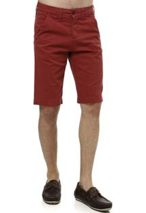 Bermuda Jeans Masculina Klug - Masculino-Bordô