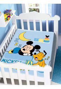 Cobertor Disney Jolitex Infantil Para Bebê - Azul