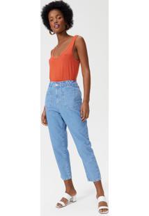Calça Jeans Slim Bolso E Elástico