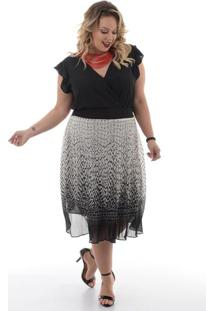 acee970b7 Saia E Mini Saia Plissada Plus Size feminina | Shoelover