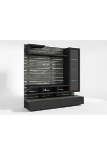 Home Center Cinza / Preto Laqueado Com Iluminacao 15079 - Sun House