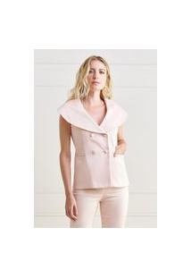 Colete Mx Fashion Sarja Piquet Thamires Rosa