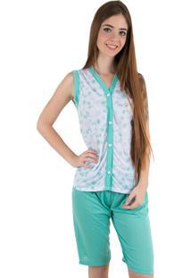 Pijama Linha Noite Pescador Verde Piscina