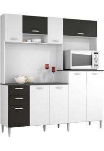 Cozinha Compacta 8 Portas 3 Gavetas - Poquema Gisele