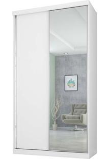 Guarda-Roupa 2 Portas 3 Gavetas Virtual 120 C/Espelho Branco Maderado Robel Mã³Veis - Branco - Dafiti