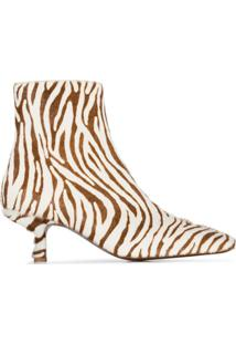 By Far Zebrina 50 Mm Pony Hair Ankle Boots - Marrom