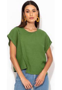 Blusa Linho Assimétrica Verde