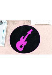 Tapete Guga Tapetes De Pelúcia Guitarra Pink