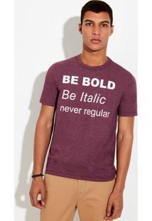 Camiseta Masculina Em Malha De Algodão