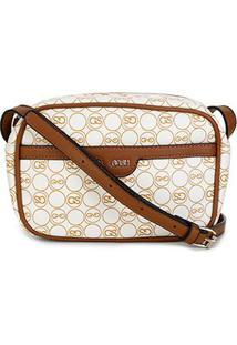 Bolsa Gash Mini Bag Monograma Feminina - Feminino-Bege