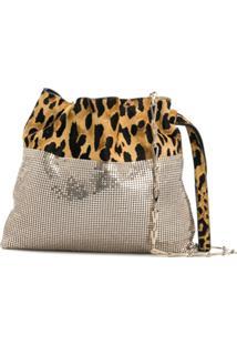 Paco Rabanne Contrast Clutch Bag - Dourado