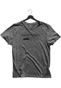 Camiseta Jay Jay Básica Happiness Loading Chumbo Dtg
