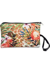 Necessaire Clássica Em Neoprene Tritengo - Girafa Flamingos Floral - Feminino