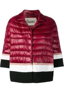 Herno Striped Padded Jacket - Vermelho