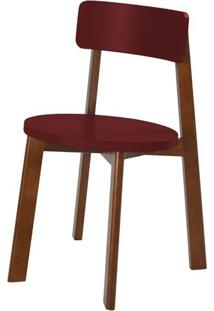Cadeira Lina Cor Cacau Com Vinho - 31536 Sun House