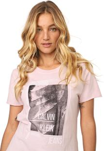 Blusa Calvin Klein Jeans Mc Waves Rosa