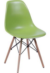 Cadeira Eames Base Madeira E Verde