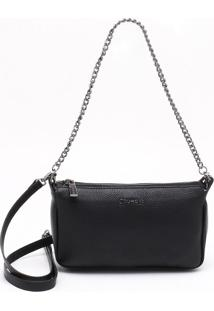 Bolsa Shoulder Bag Couro Preta - M
