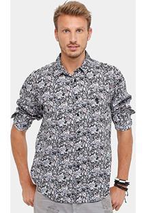 Camisa Cavalera Full Print Liberty Bolso Masculina - Masculino