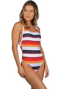 Maiô Rip Curl Mix And Match One Piece Feminino - Feminino-Branco