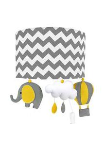 Arandela Meia Lua Elefante Baláo Cinza Quarto Bebê Infantil Menino Menina