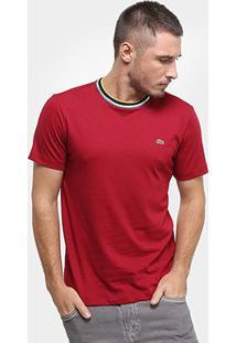 Camiseta Lacoste Masculina - Masculino-Bordô