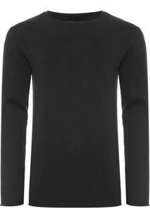 Suéter Masculino Tricot Básico - Preto