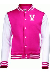 Jaqueta College4Ever Letra V Bordada Pink