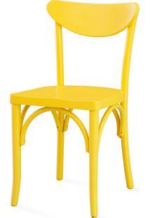 Cadeira Para Restaurante - Laca Amarela - Amélie - 44,5X45X81 Cm