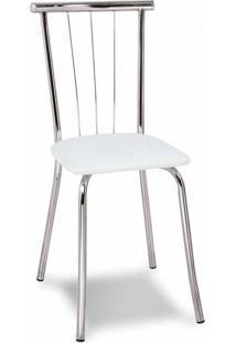 Cadeira Cromada Ávila Branca