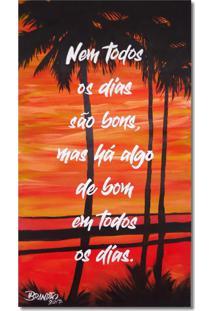 Quadro Original Com Frase Motivacional Pintado A Mão