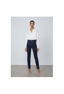 Calça Jeans Skinny Cintura Alta Eco Denim - Azul