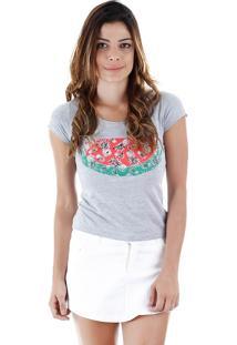 Camiseta Estampada Feminina Lara - Cinza